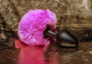 Bunny Tail, Silicone Plug (different colors)