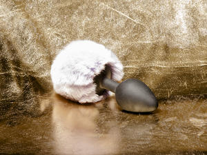Kaninsvans, Silikonplugg (olika färger)