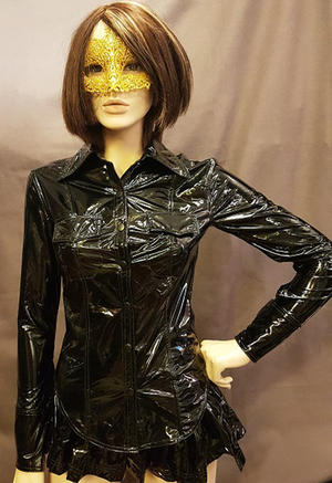 Long-sleeved PVC-Shirt with Pockets