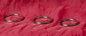 Rund Penisring, Rostfritt stål, 45-55 mm
