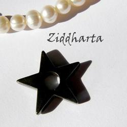 1st Hematit-hänge: Pentagram ca22mm