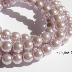 6mm Pearlecent Glaspärlor - 10st Lavendel / Syren Lila