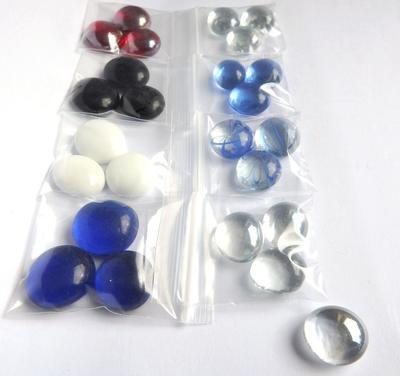 24st Glas-Cabbar-MIX - Glas Chaboconer Pärlsömnad, dekor, limma, bezel