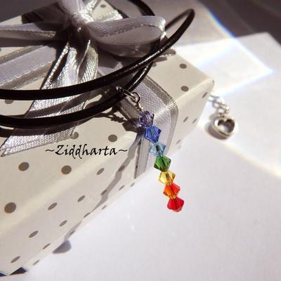 Yoga Necklace 7 Chakra Halskette Kragen Rainbow Regnbåge Halsband Pride Necklace - Jewelry Handmade by Ziddharta Seven Chakras Meditation