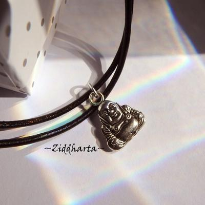 AS Buddha Necklace Antique Silver Finish handmade Pendant Halskette Kragen Halsband Yoga Meditation Necklace - Jewelry Handmade by Ziddharta