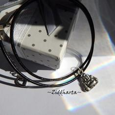 AS Buddha Necklace Antique Silver Finish handmade Pendant Halskette Kragen Halsband Yoga Meditation Necklace - Jewelry Handmade by Ziddharta