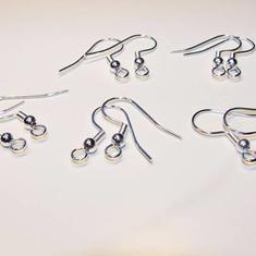 5 par SP Franska Örkrokar - klassisk modell - Silverplated Earhooks: Silverpläterade Örhängeskrokar!