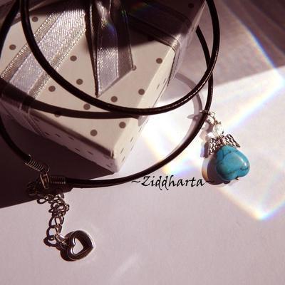 Turqoiuse Guardian Angel Necklace Handmade Angel Pendant Necklace Halskette Kragen Halsband Stone Necklace - Jewelry by Ziddharta Sweden