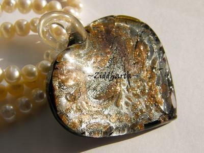 LampWork-hänge: CopperSwirl