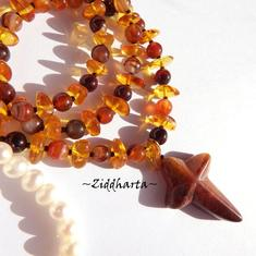 Amber Rav Bernstein Bärnstens Cross OOAK Necklace Stone Cross gem Amber Rav Bärnsten Agate Necklace: Handmade Jewelry Necklaces by Ziddharta