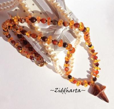 Amber Rav Bernstein Bärnstens Cross OOAK Necklace Stone Cross gem Amber Rav Bärnsten Agate Necklace: Handmade Jewelry Necklaces by Ziddharta