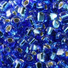 10gram SAPPHIRE Blue SL #19 Miyuki 3mm Triangles 8/0