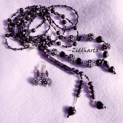 SÅLD! L3:87 LARIAT Black Witch Gothic - Goth  / Metal / Hårdrock / Punk /Halloween: Jewelry hand made by Ziddharta