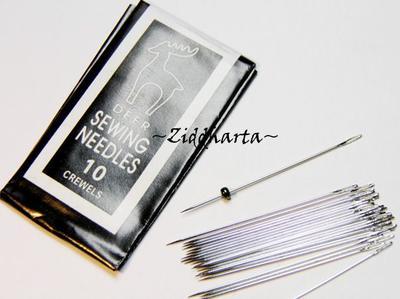 """1 GÅVA per order: 5st Pärl-Nålar """"sharps"""" - går igenom 2mm seedbeads! Pärlnålar"""