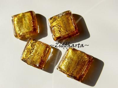 LampWork SF SQUARE: AntiqueGold / Bronze - 4081