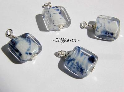 1 Hänge: Rektangle ARCTIC Blue Silverstoft!