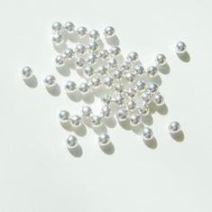 1 GÅVA per order: 50st SilverPläterade 2mm Kulor Mellandelar