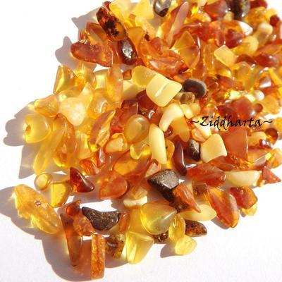 80-100 chips - AMBER /Bärnstens - Oborrade i alla färger - Xsmall