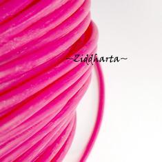 60cm Gummislang ROSA Hot Pink 3mm diam - går att trä på wire