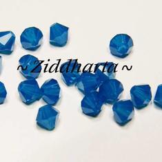 Swarovski Bicone 4mm Crystals - Carribean Blue - 8st