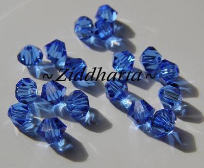 Swarovski Bicone 4mm Crystals - Sapphire - 8st