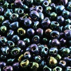 10gram Miyuki Metallic Blue Iris GlasTårar 4x3mm - DP452
