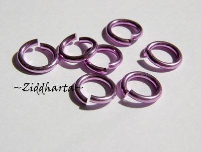 Aluminium: 10st Motringar LILAC ca 10x1,2mm