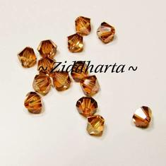 Swarovski Bicone 4mm Crystals - Crystal Copper - 8st