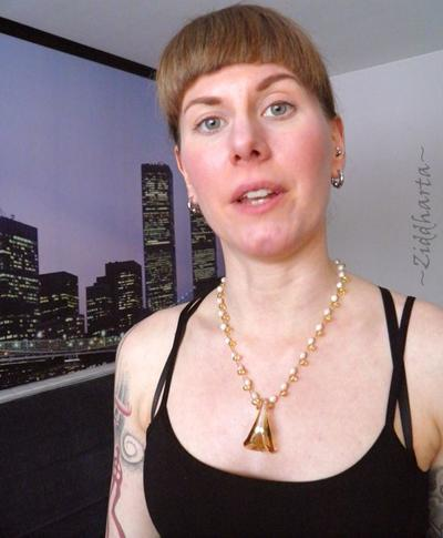 L1:20 OOAK Amber colored Lilly Necklace Lampwork Glass Necklace LW Bell Pendant Necklace Freshwater Pearls Necklace - Handmade Jewelry by Ziddharta