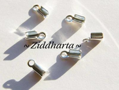 6 Hållare Smyckesband 'Medium' ca 9x4mm - SP