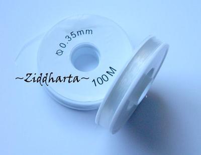 Nylonlina: Rulle om 100 m - diam. 0,35mm