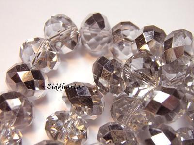 Lyx kristall - Kristall-pärla - Silver 10x8mm Rondell