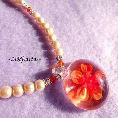 L1:39 OOAK OrangeBlossom - Lyxigt vackert halsband handgjort av Ziddharta i Sverige