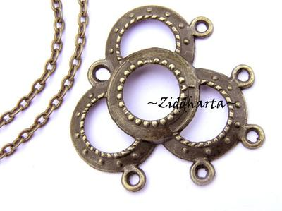 SteamPunk /Bronze: Hänge ´Ringar´ 33x32mm