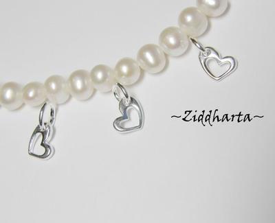 3 SP Små hängen: Hjärtan 11x8mm - snygga ihåliga