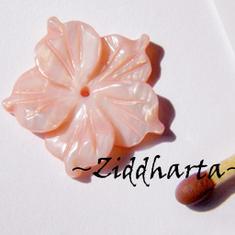 1 Snäckskalspärla Mother of Pearl: Rosa Snäckskals-blomma MOP #36