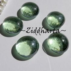1-3-5st Glas-cabbar: Peridot AB GREEN Grön  - Cabochoner av glas för dekor, pyssel och pärlsömnad