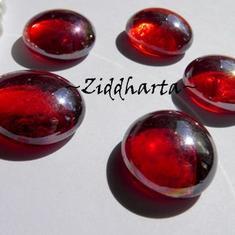 1-3-5st Glas-cabbar: Röda RED AB - Cabochoner av glas för dekor, pyssel och pärlsömnad