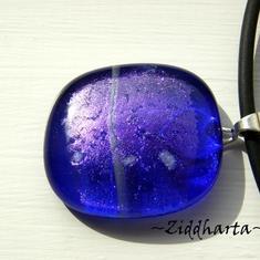 Nr #47 - Blue Ocean - Dichroic hänge på smyckesrem