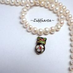 1 Cloisonné pärla: Svart Uggla / Owl till hänge #36