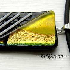 60 Citrus - Dichroic hänge på smyckesrem