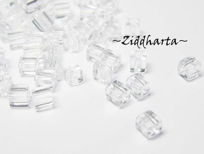 10gram Miyuki 3.5-3.7mm SQUARE: Crystal