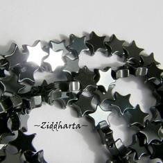 5st Hematit-pärla - STARS 6mm