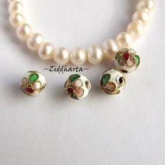 1 Cloisonné pärla: VITA 8mm Kula #08