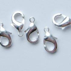 1 GÅVA per order: 5 st SilverPläterade 12mm Karbinlås