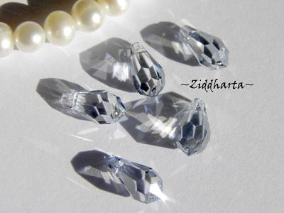 Swarovski 11x5,5mm Teardrop hänge: Crystal Blue Shade