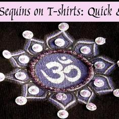 #DIY  Videos #Recycle Smyckestillverkning: Pärl-broderi med paljetter på tyg - Beading Sequins on T-shirts