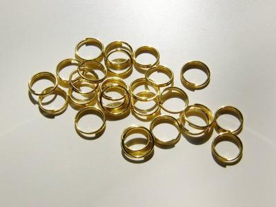"""7mm GP Ringar - säkrare - dubbel """"nyckelring"""" - 25st"""