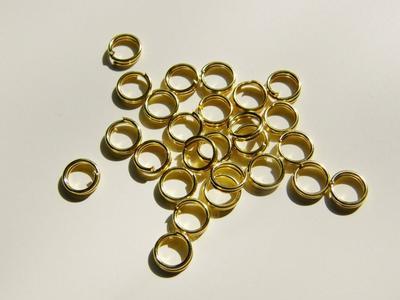 """5mm GP Ringar - säkrare - dubbel """"nyckelring"""" - 25st"""