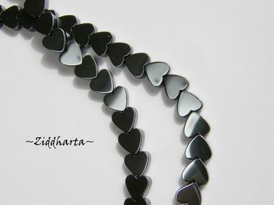 5st Hematit-pärla - HEART 6mm